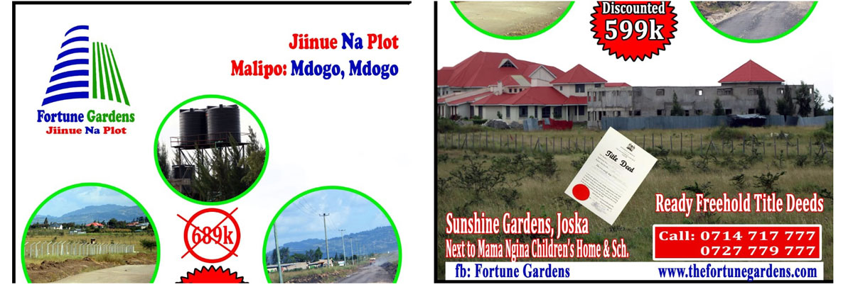 Sunshine Gardens - Ksh 599,000 /offer